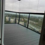 Balkon beglazing en vlonder