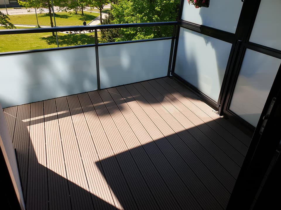 Balkon bedekking kunststof