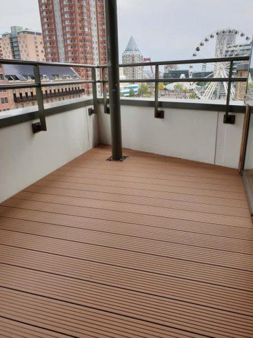 Houten vlonders balkon