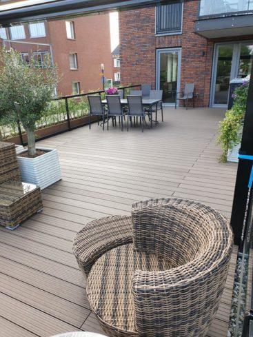 balkonvloer van hout