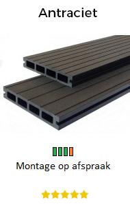 Balkon vlonders antraciet | Balkontotaal.nl