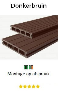 Balkon vlonders donkerbruin | Balkontotaal.nl