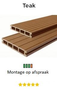 Balkon vlonders teak | Balkontotaal.nl