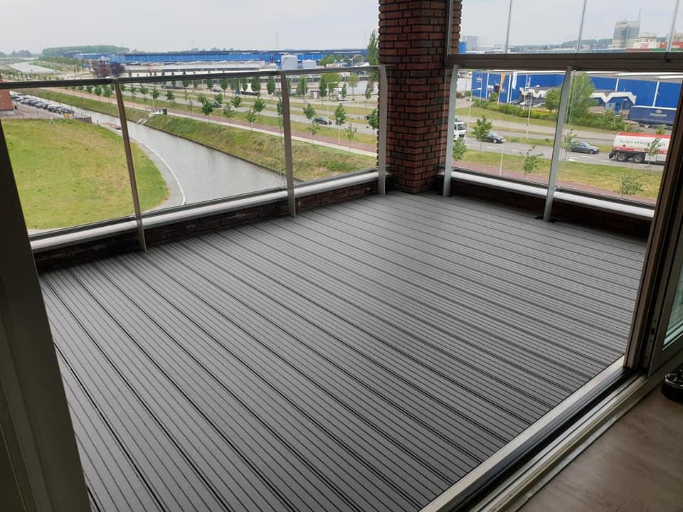houten vloer balkon